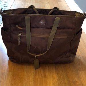 Coach baby bag